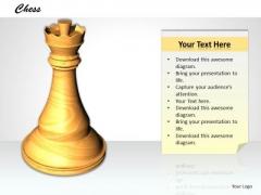 Stock Photo White Chess Pawn PowerPoint Slide