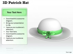Stock Photo White Hat For Patrick Day PowerPoint Slide
