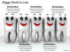 Stock Photo White Teeth With Happy Faces PowerPoint Slide