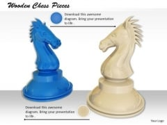 Stock Photo Wooden Chess Pieces PowerPoint Slide