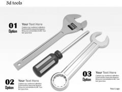Stock Photo Wrench Hammer And Screwdriver For Service PowerPoint Slide