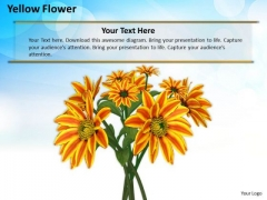 Stock Photo Yellow Flowers With Blue Sky In Background PowerPoint Slide