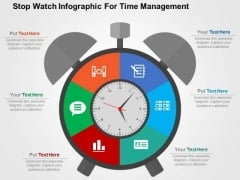 Stop Watch Infographic For Time Management PowerPoint Template