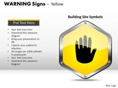 Stopping Warning Signs PowerPoint Slides And Ppt Diagram Templates