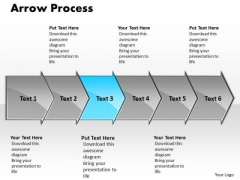 Strategy PowerPoint Template Arrow Process 6 Stages Time Management Graphic