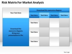 Strategy PowerPoint Template Risk Matrix For Market Analysis Ppt Slides