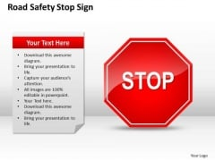Strategy PowerPoint Template Safety Stop Sign Ppt Templates Backgrounds For Slides