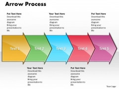 Strategy Ppt Background Arrow Process 5 Stages Business Management PowerPoint 1 Design