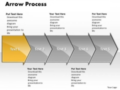Strategy Ppt Background Arrow Process 5 Stages Business Management PowerPoint 2 Design
