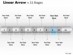 Strategy Ppt Background Linear Arrow 11 Stages Business PowerPoint 10 Design