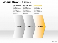 Strategy Ppt Background Linear Flow 3 Stages Operations Management PowerPoint Design