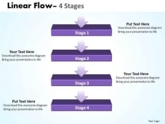 Strategy Ppt Background Linear Flow 4 Stages Business Communication PowerPoint 1 Graphic