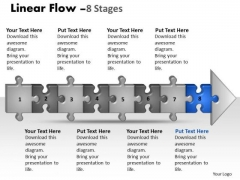 Strategy Ppt Template Linear Flow 8 Stages Style1 Communication Skills PowerPoint 9 Image