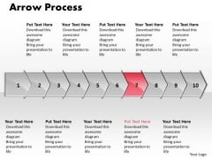 Strategy Ppt Theme Arrow Process 10 Power Point Stages Communication Skills PowerPoint 8 Image
