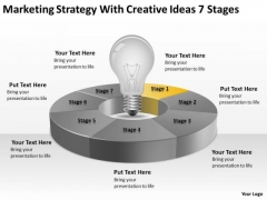 Strategy With Creative Ideas 7 Stages Ppt Business Continuity Plan Template PowerPoint Templates