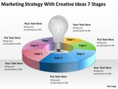 Strategy With Creative Ideas 7 Stages Ppt One Page Business Plan Template PowerPoint Slides