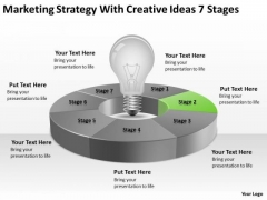Strategy With Creative Ideas 7 Stages Ppt Small Business Plan Template PowerPoint Templates