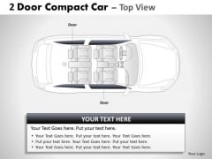 Street 2 Door Gray Car Top PowerPoint Slides And Ppt Diagram Templates