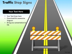 Striped Traffic Stop PowerPoint Slides And Ppt Diagram Templates
