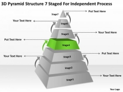 Structre 7 Staged For Independent Process Ppt Business Plan Example PowerPoint Templates
