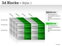 Structure 3d Blocks 1 PowerPoint Slides And Ppt Diagram Templates