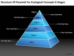 Structure Of Pyramid For Ecological Concepts 6 Stages Simple Business Plan PowerPoint Templates