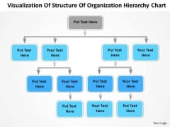 Structure Organization Hierarchy Chart Ppt Standard Business Plan PowerPoint Templates