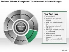 Structured Activities 7 Stages Simple Business Plan Example PowerPoint Templates