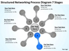 Structured Networking Process Diagram 7 Stages Business Plan PowerPoint Slides