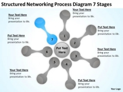 Structured Networking Process Diagram 7 Stages Business Plans PowerPoint Slides