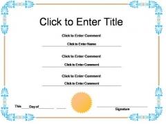 Student Achievement Certificate PowerPoint Templates
