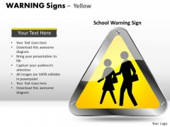 Students Symbol Warning Signs PowerPoint Slides And Ppt Diagram Templates