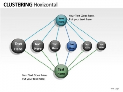 Style Clustering Horizontal PowerPoint Slides And Ppt Diagram Templates