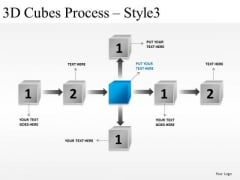 Success 3d Cubes Process 3 PowerPoint Slides And Ppt Diagram Templates