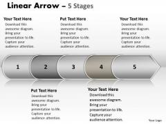 Success PowerPoint Template Non Linear Ideas Arrow 5 State Ppt Diagram Design