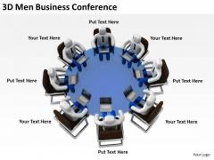 Successful Business Men 3d PowerPoint Presentations Conference Slides
