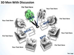 Successful Business Men 3d With Discussion PowerPoint Slides