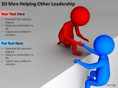 Successful Business Men Helping Other Leadership PowerPoint Templates Ppt Backgrounds For Slides