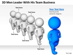 Successful Business Men Leader With His Team PowerPoint Presentations Slides