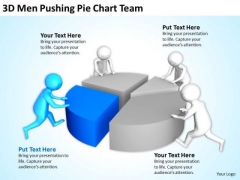Successful Business Men Pushing Pie Chart Team PowerPoint Templates Ppt Backgrounds For Slides