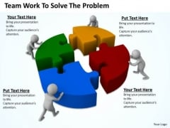 Successful Business Men Team Work To Solve The Problem PowerPoint Slides
