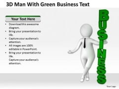Successful Business Men With Green New PowerPoint Presentation Text Templates