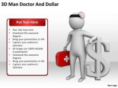 Successful Business People 3d Man Doctor And Dollar PowerPoint Templates Ppt Backgrounds For Slides