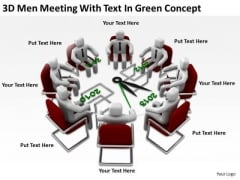Successful Business People 3d Men Meeting With Text Green Concept PowerPoint Templates