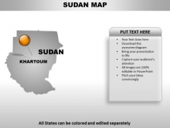 Sudan Country PowerPoint Maps