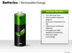 Sun Batteries Renewable Energy PowerPoint Slides And Ppt Diagram Templates