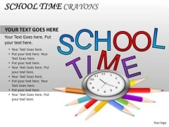 Supplies School Time Blackboard PowerPoint Slides And Ppt Diagram Templates