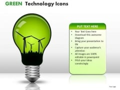 Supply Green Technology Icons PowerPoint Slides And Ppt Templates