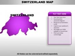 Switzerland PowerPoint Maps