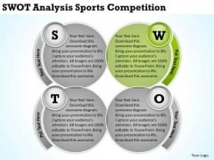 Swot Analysis Sports Competition Business Plan Samples PowerPoint Templates